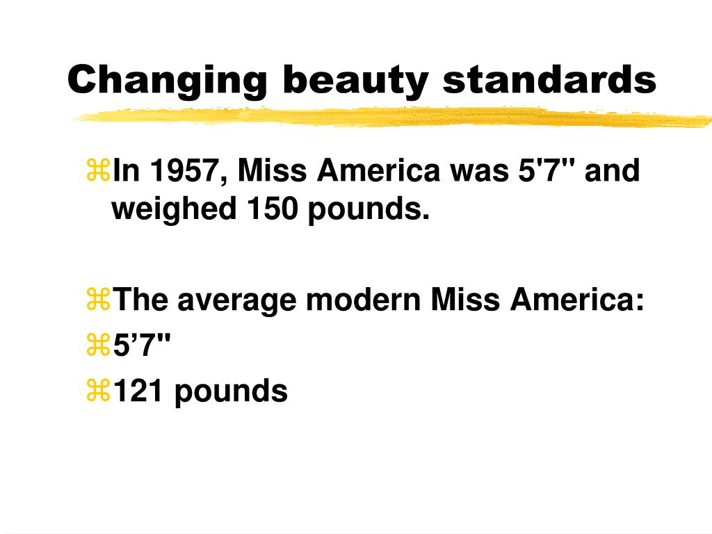 Changing beauty standards