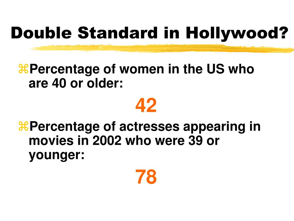 Double Standard in Hollywood?