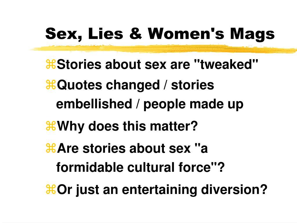 Sex, Lies & Women's Mags