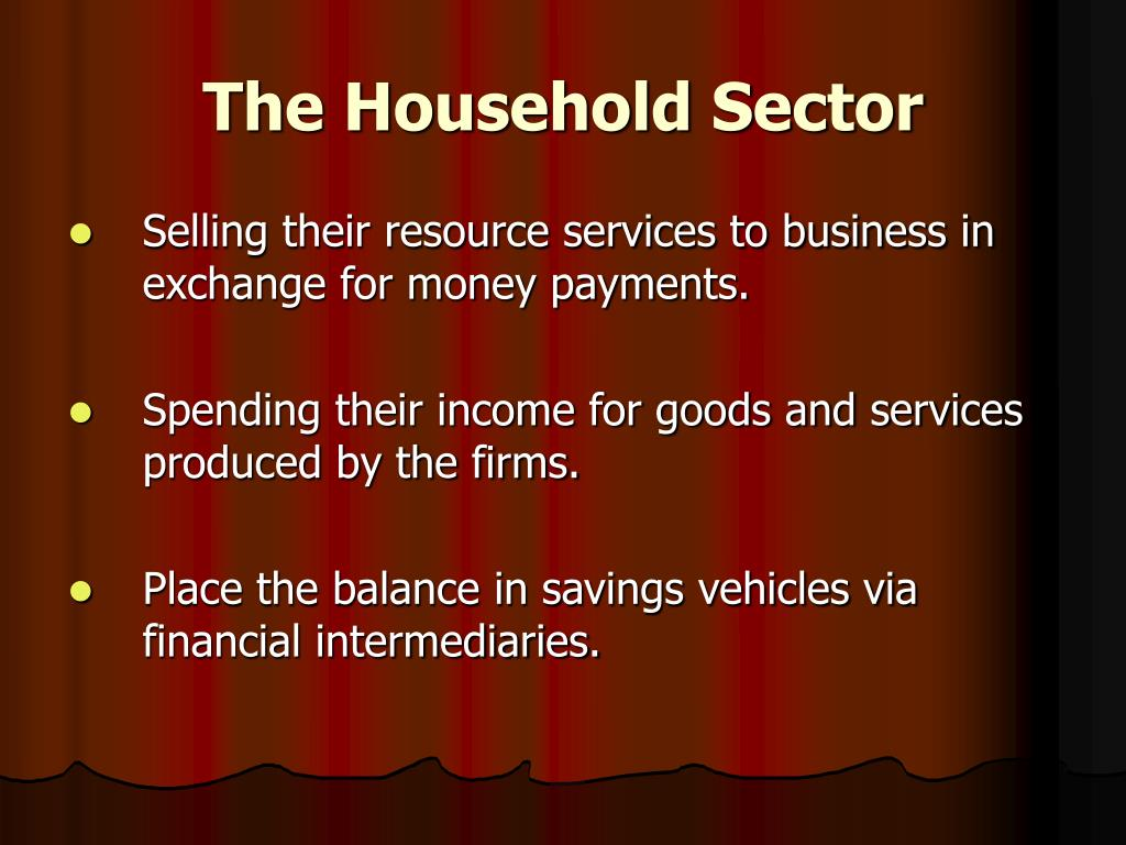 The Household Sector