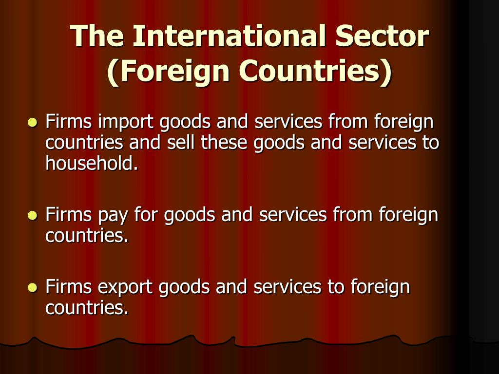 The International Sector