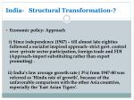india structural transformation