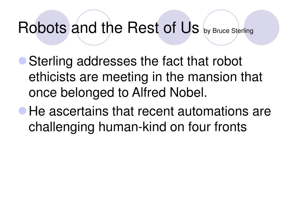 Robots and the Rest of Us