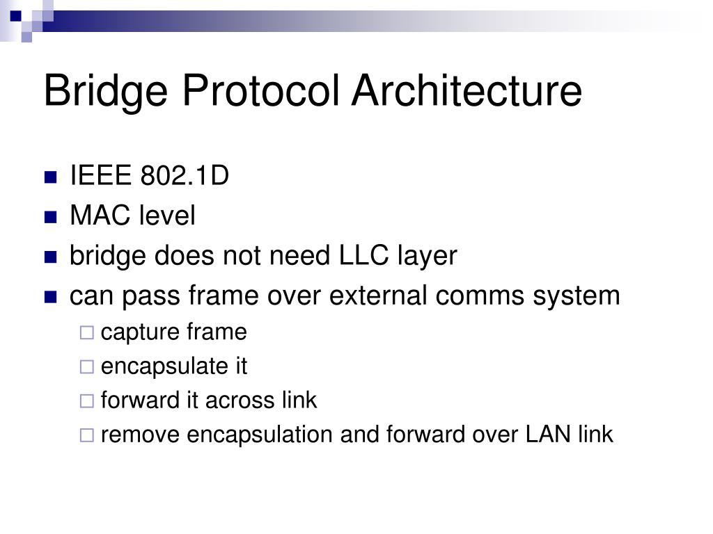 Bridge Protocol Architecture