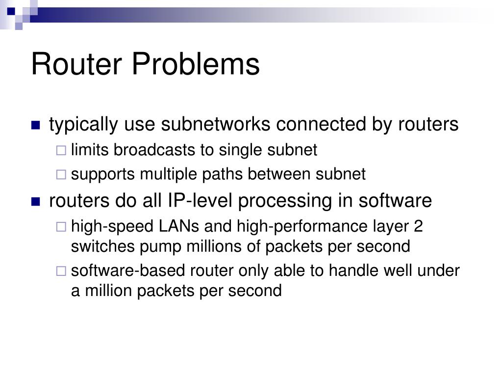 Router Problems
