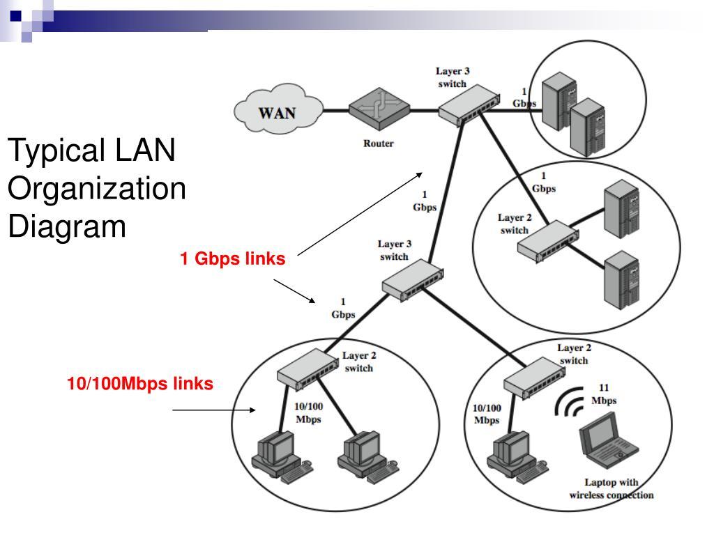 Typical LAN Organization Diagram