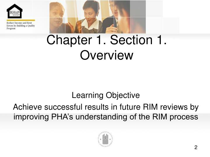 Chapter 1 section 1 overview