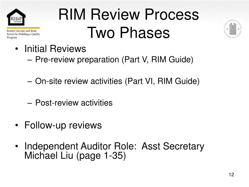 RIM Review Process