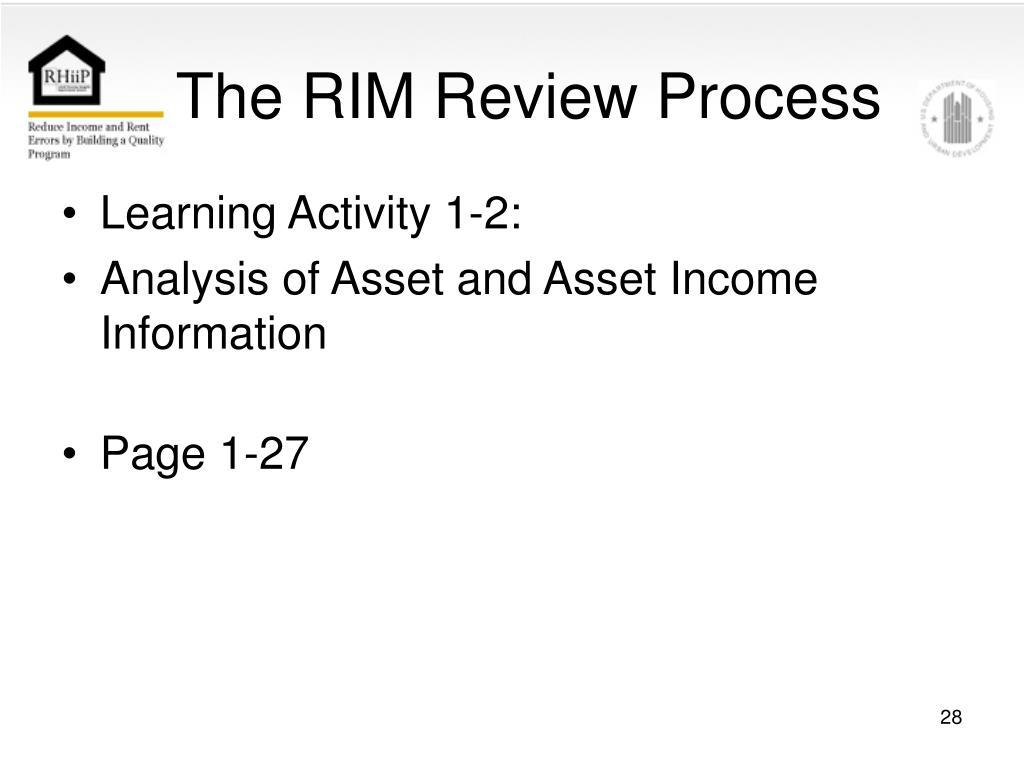 The RIM Review Process