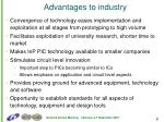 advantages to industry
