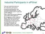 industrial participants in epixnet
