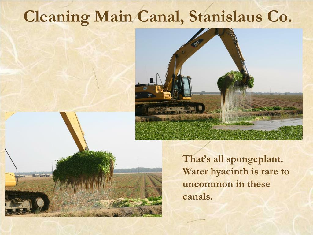 Cleaning Main Canal, Stanislaus Co.