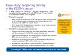 case study supporting delivery of the kcom contract