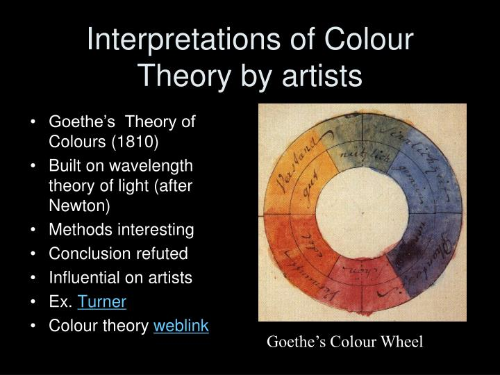 Interpretations of colour theory by artists