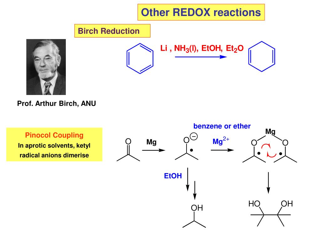 Other REDOX reactions
