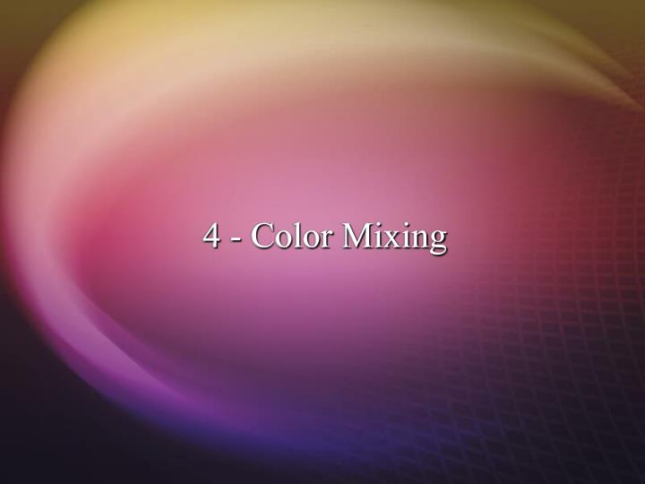 4 color mixing