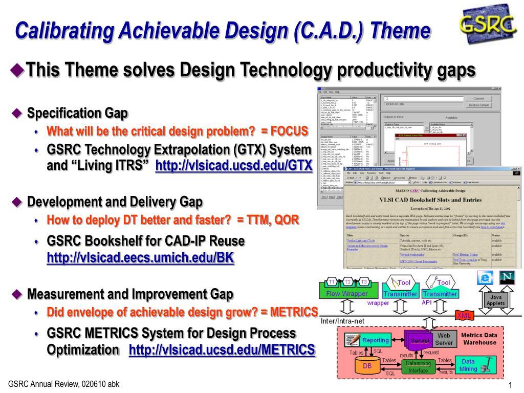 calibrating achievable design c a d theme l.