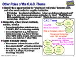other roles of the c a d theme