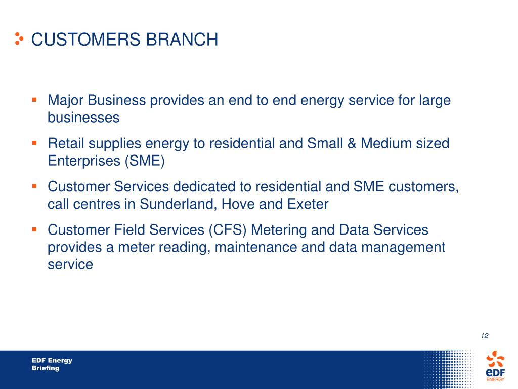 CUSTOMERS BRANCH