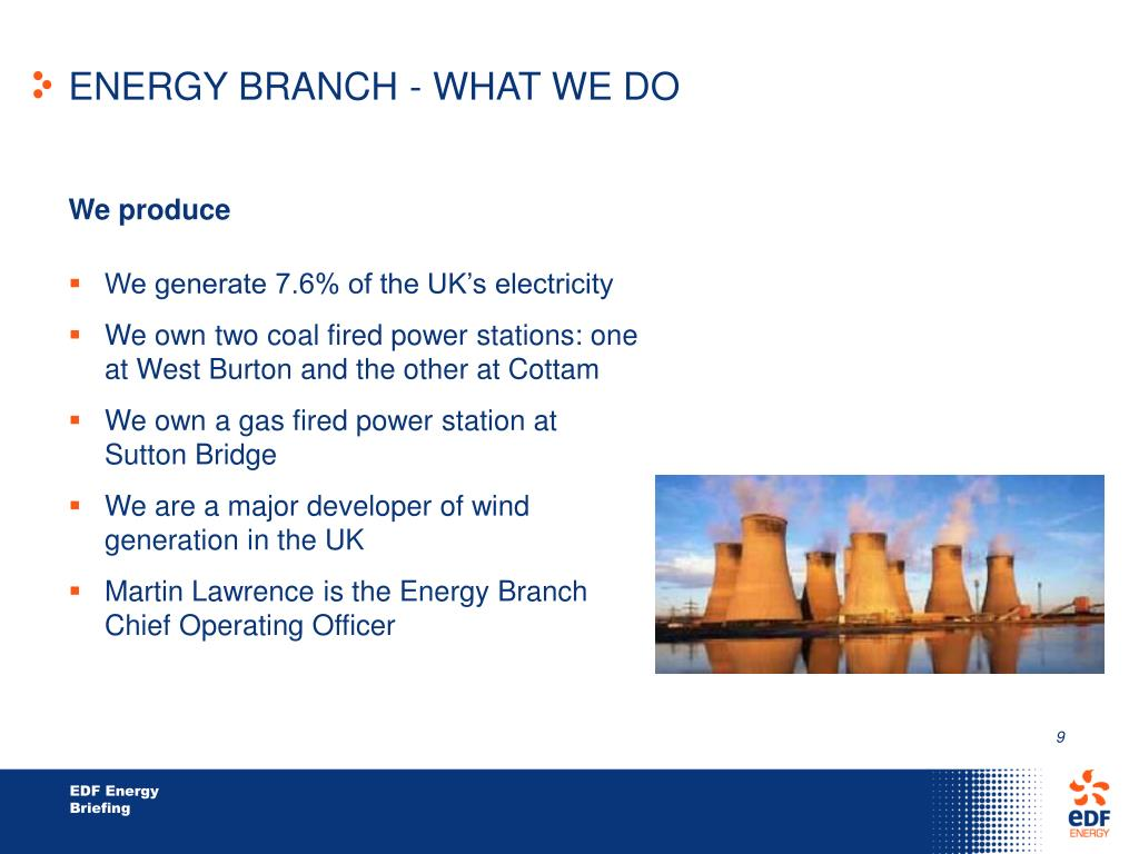 ENERGY BRANCH - WHAT WE DO
