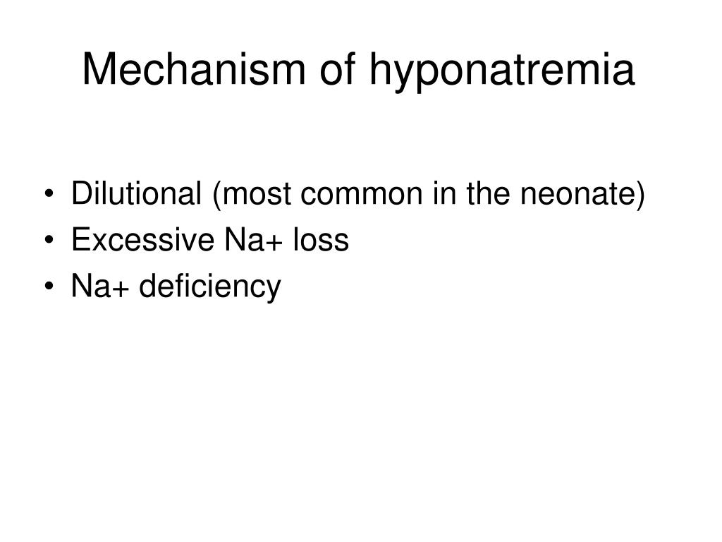 Mechanism of hyponatremia