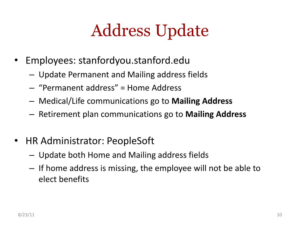 Address Update