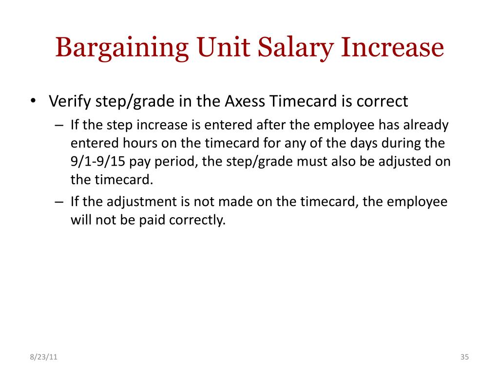 Bargaining Unit Salary Increase
