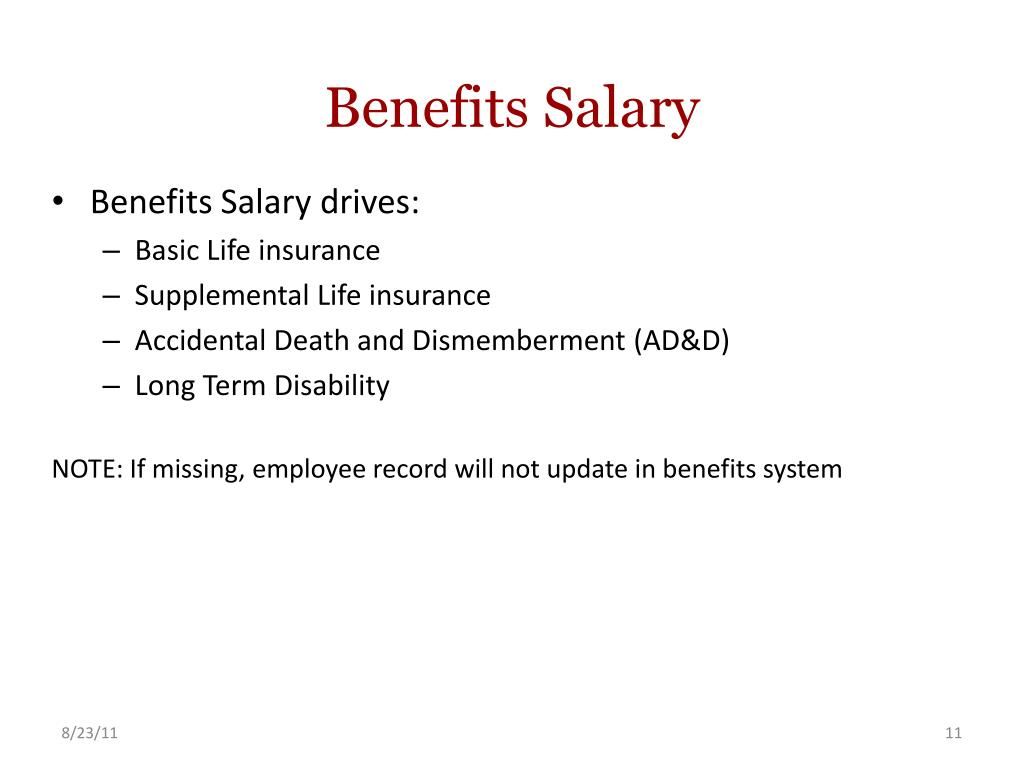 Benefits Salary