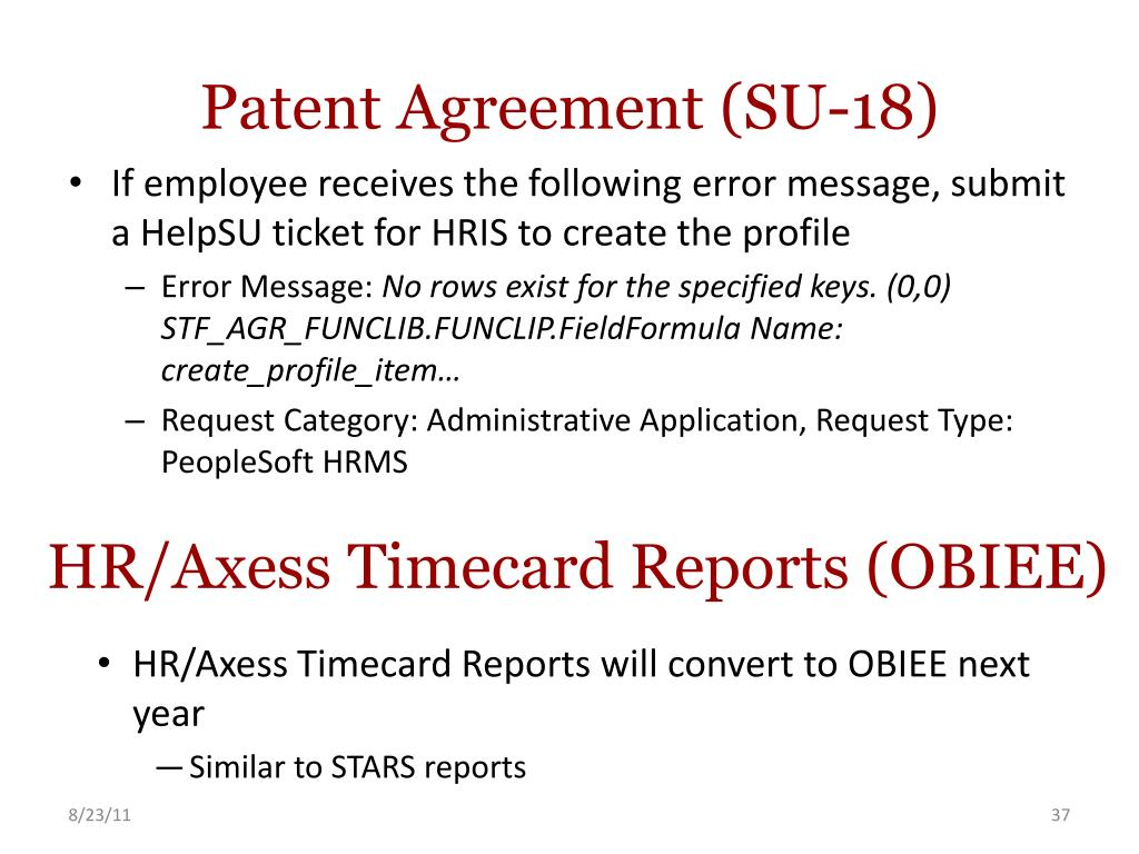 Patent Agreement (SU-18)
