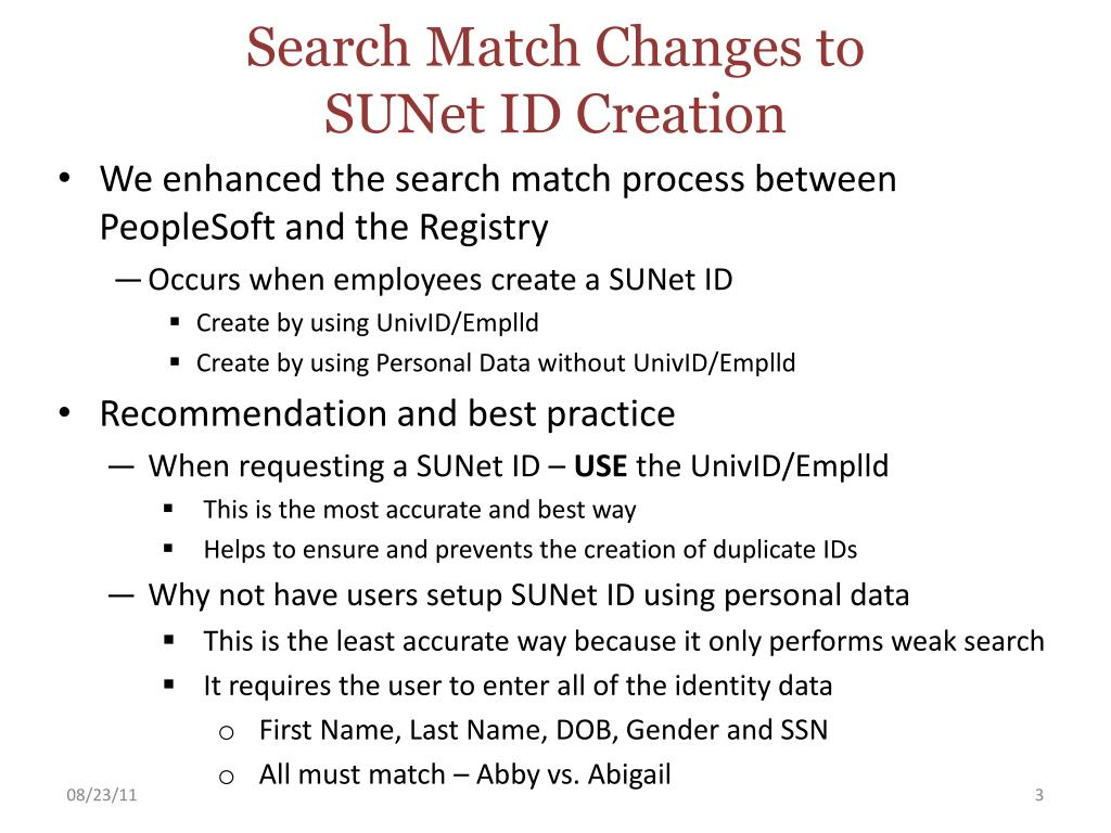Search Match Changes to