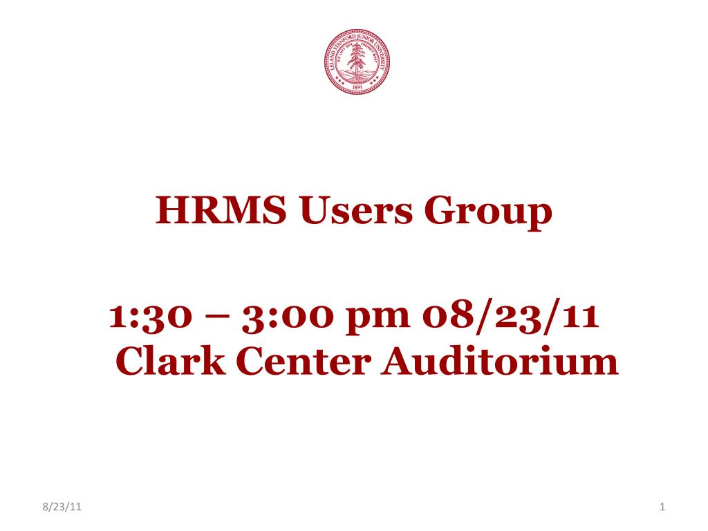 HRMS Users Group