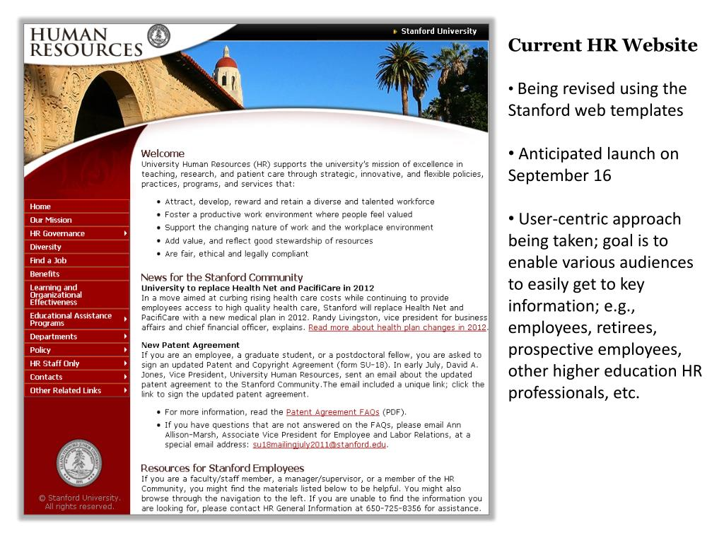Current HR Website