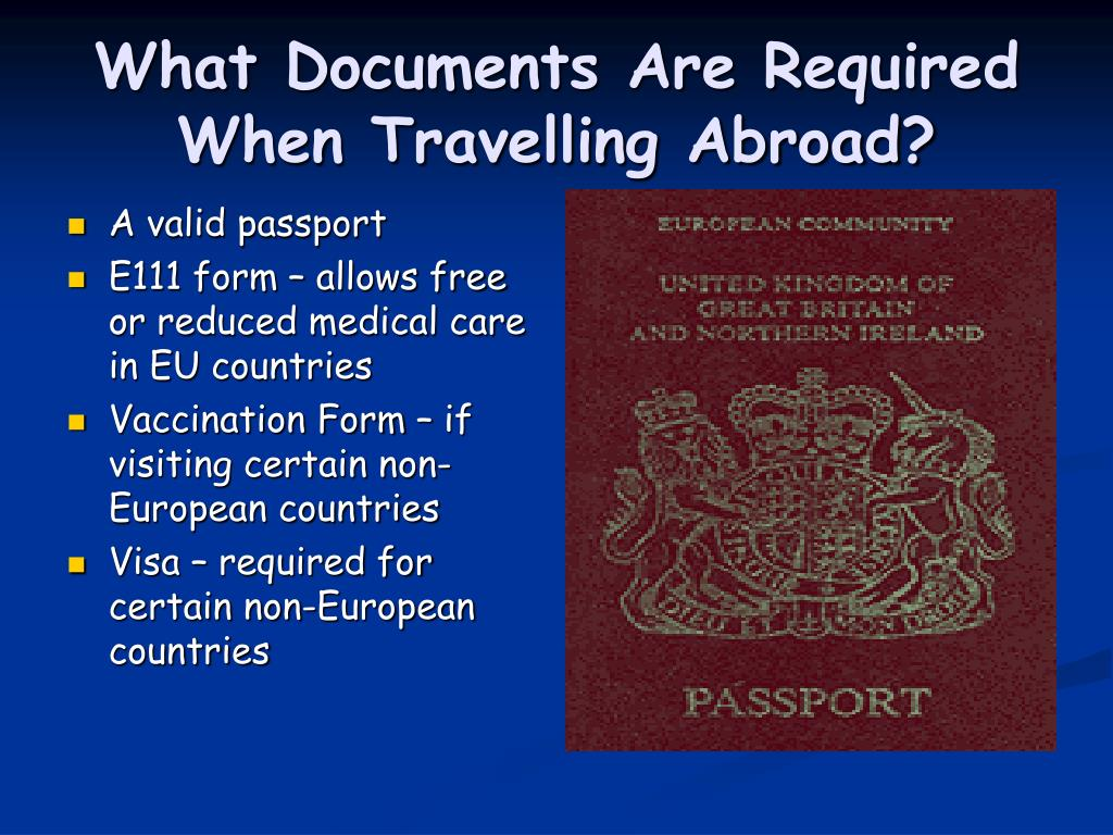 What Documents Are Required When Travelling Abroad?