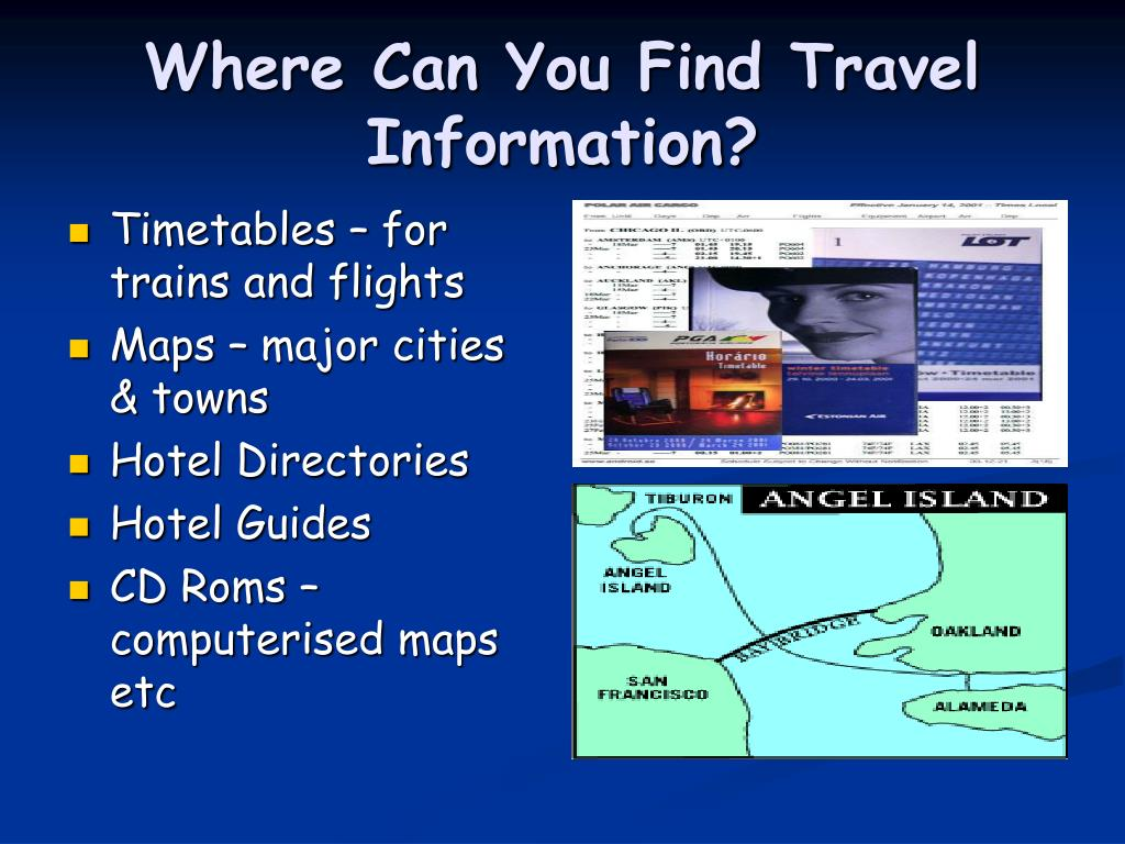 Where Can You Find Travel Information?
