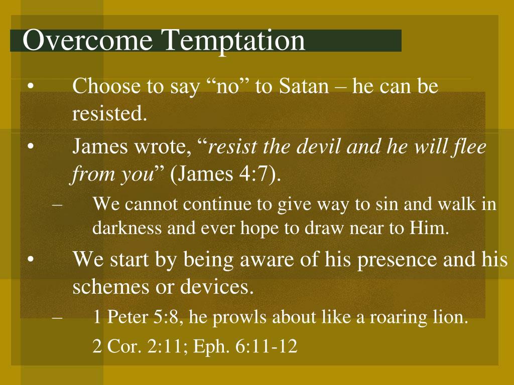 Overcome Temptation
