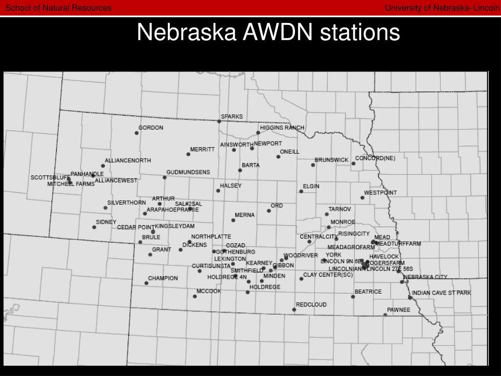 Nebraska AWDN stations