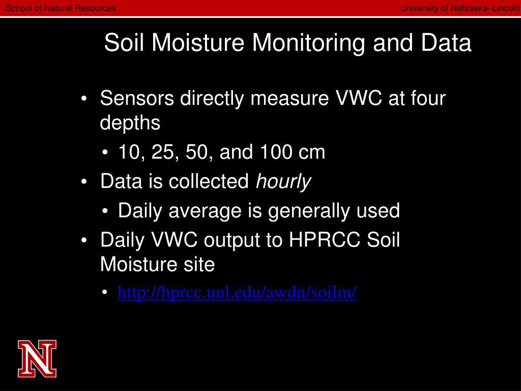 Soil Moisture Monitoring and Data