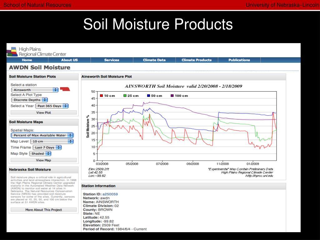 Soil Moisture Products