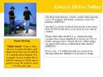 always drive sober