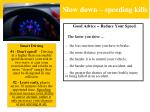 slow down speeding kills