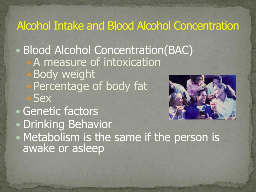 Alcohol Intake and Blood Alcohol Concentration
