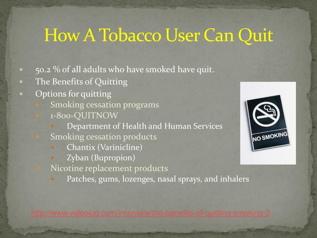 How A Tobacco User Can Quit