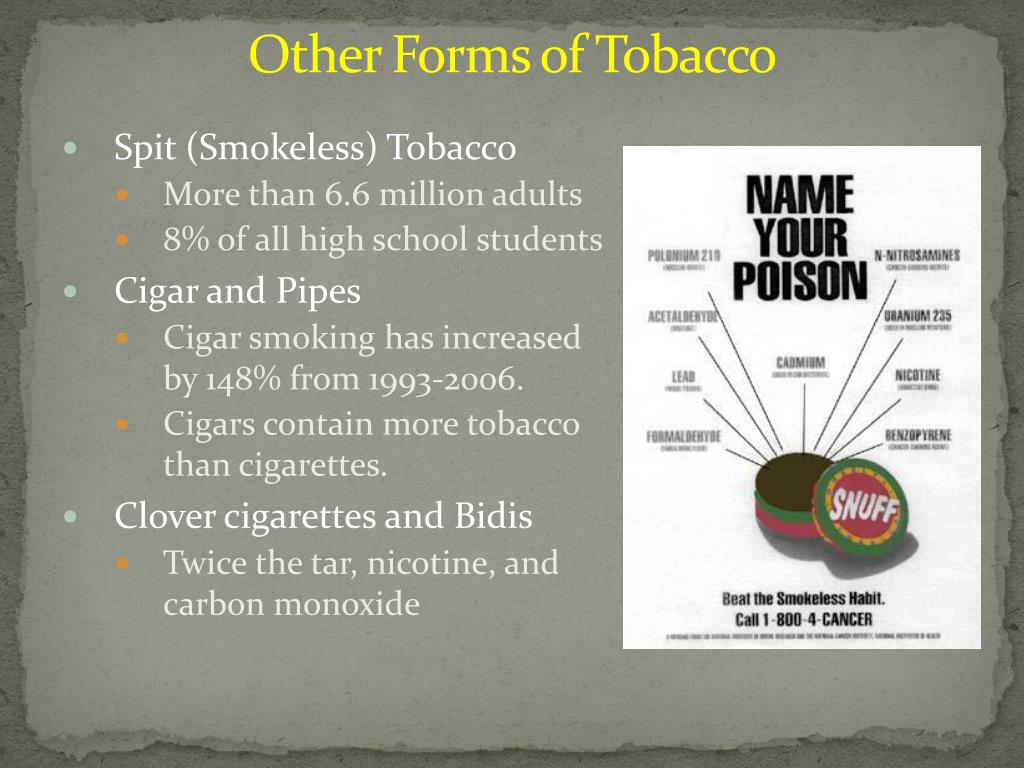 Other Forms of Tobacco