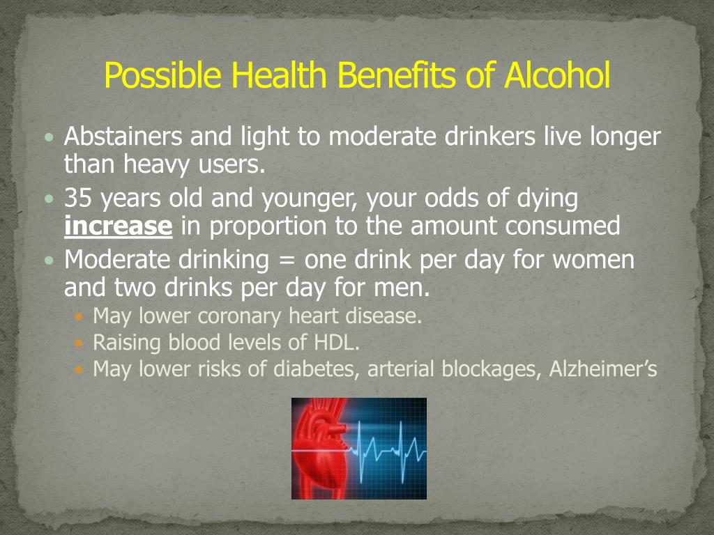 Possible Health Benefits of Alcohol