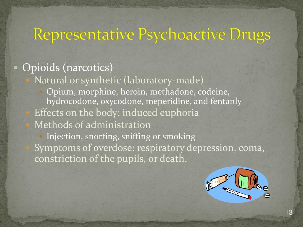Representative Psychoactive Drugs