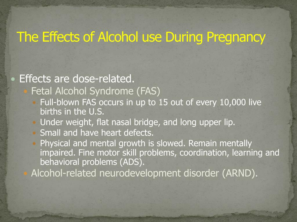 The Effects of Alcohol use During Pregnancy