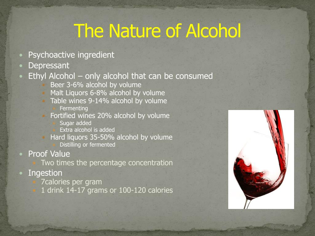 The Nature of Alcohol
