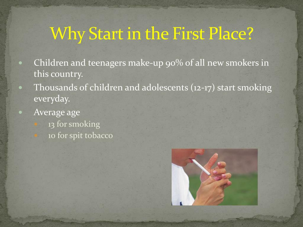 Why Start in the First Place?