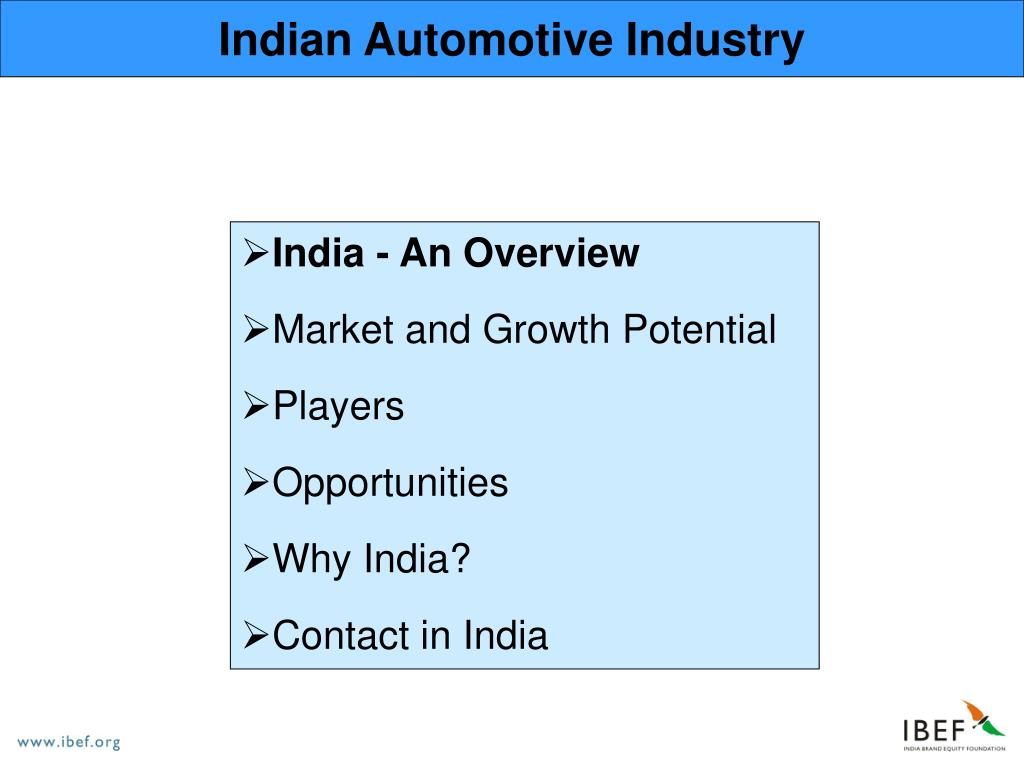 Indian Automotive Industry