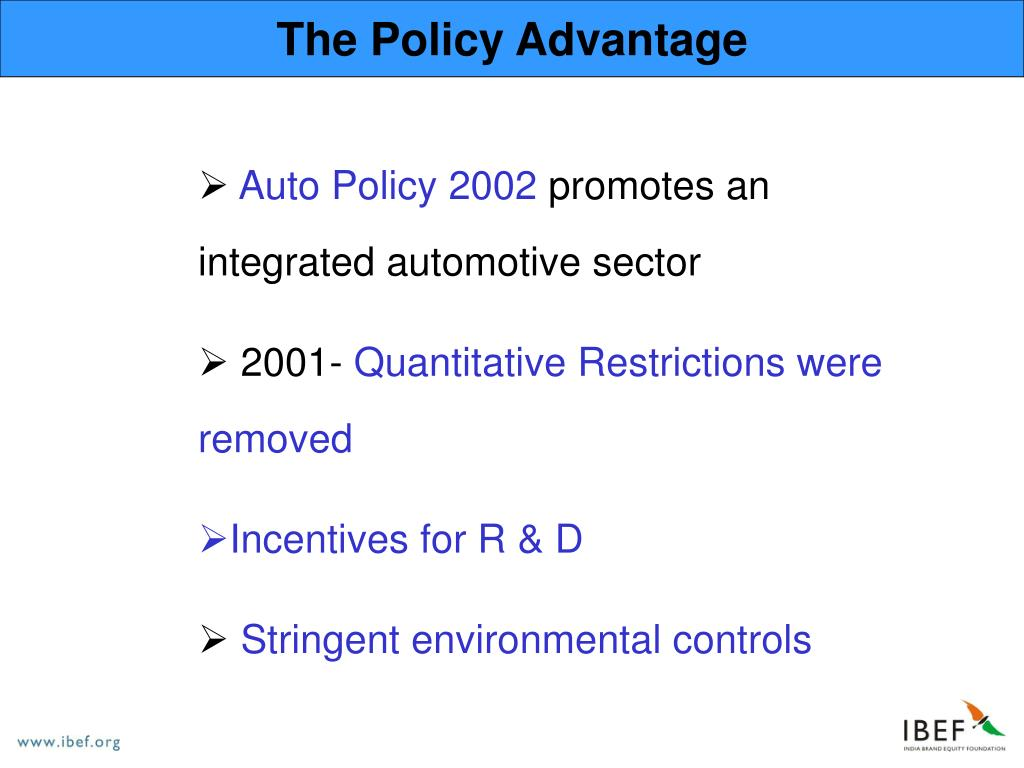 The Policy Advantage